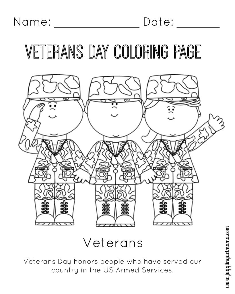 Veterans Day Coloring Pages Free - Coloring Home