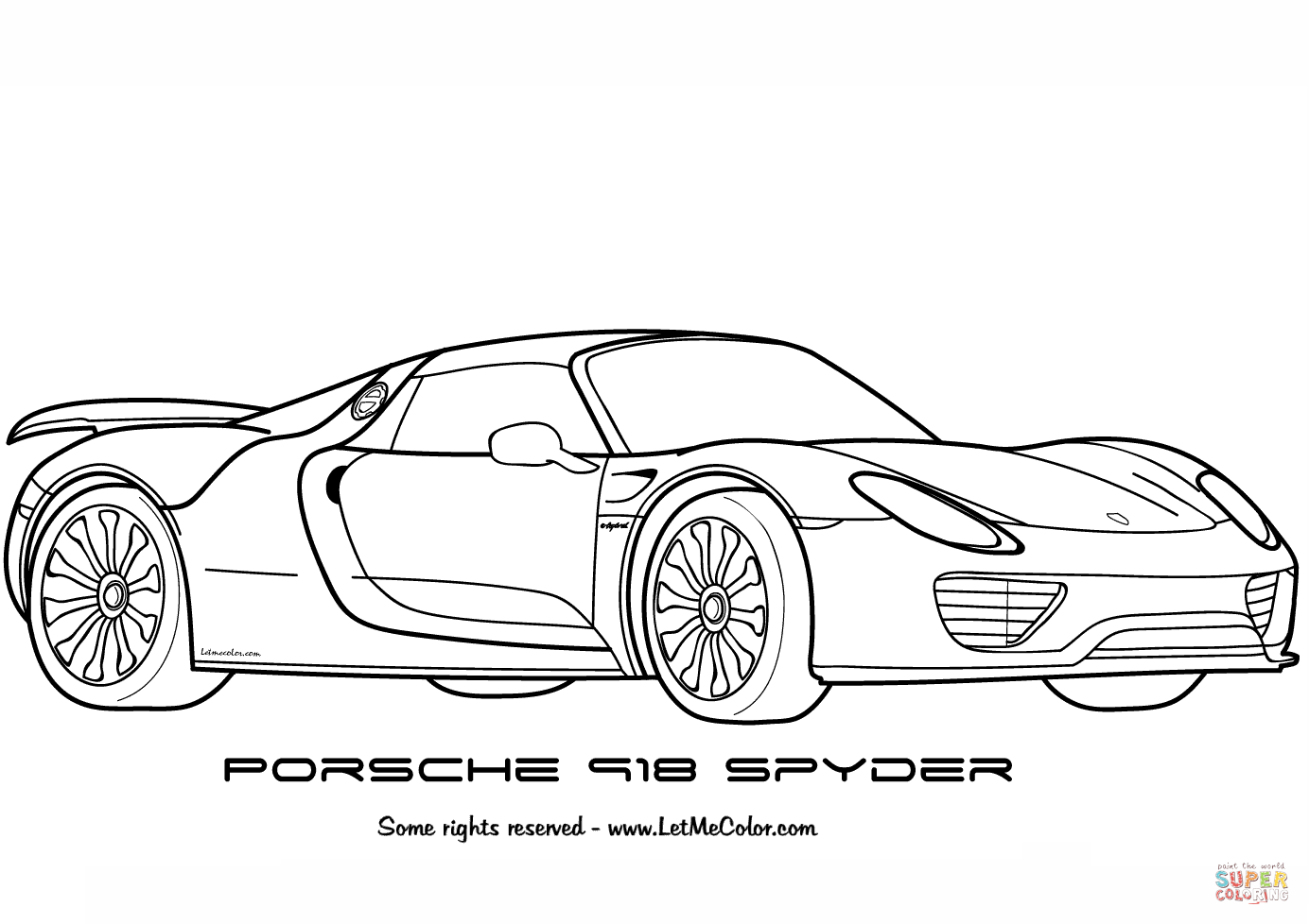 Coloring Pages Porsche Coloring Home Porsche Coloring Pages