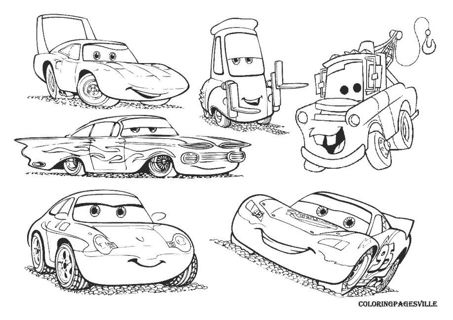 FilmLightning Mcqueen Coloring Pages Printable Cars 2