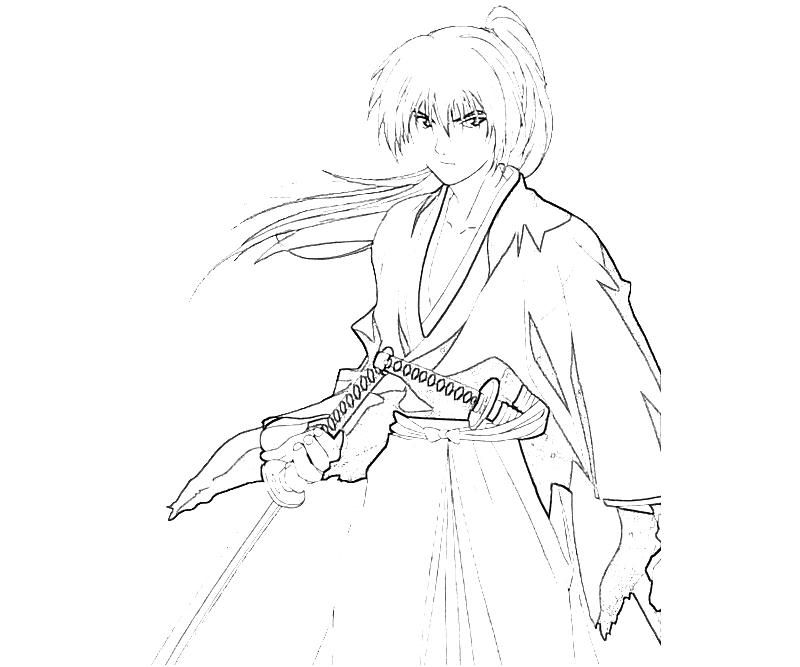 coloring pages for rurouni kenshin - photo#1