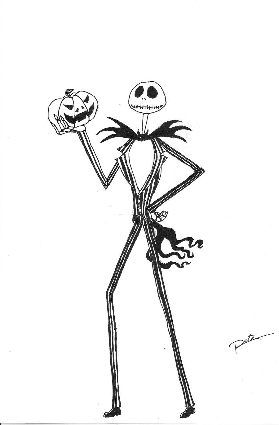 Jack Skellington Coloring Page Coloring Home Skellington Coloring Page