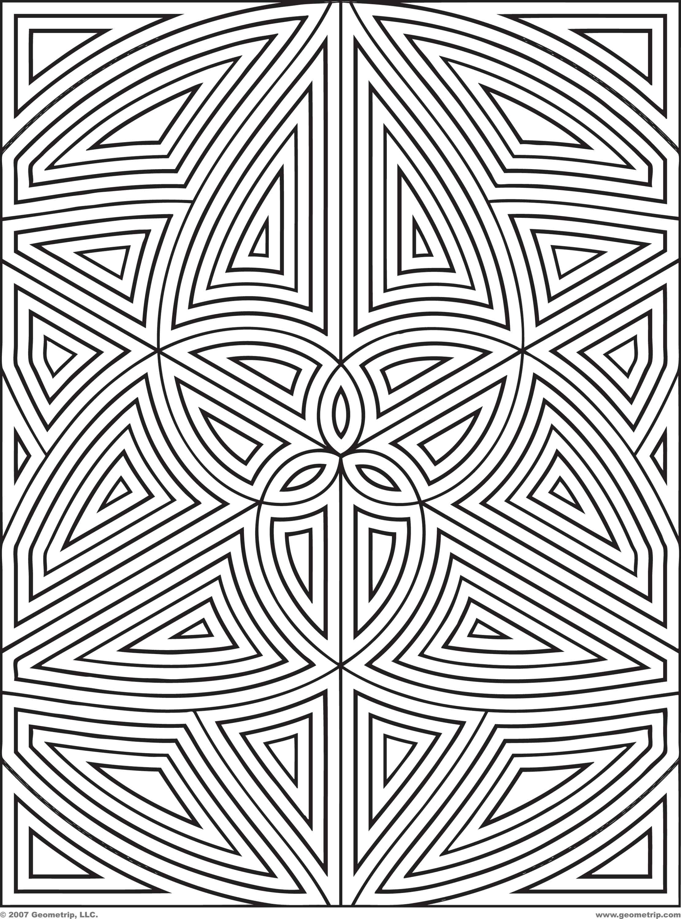 complex geometric coloring pages printable - photo#8