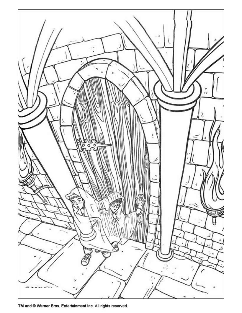 harry potter coloring pages flying harry potter - Harry Potter Coloring Pages For Kids