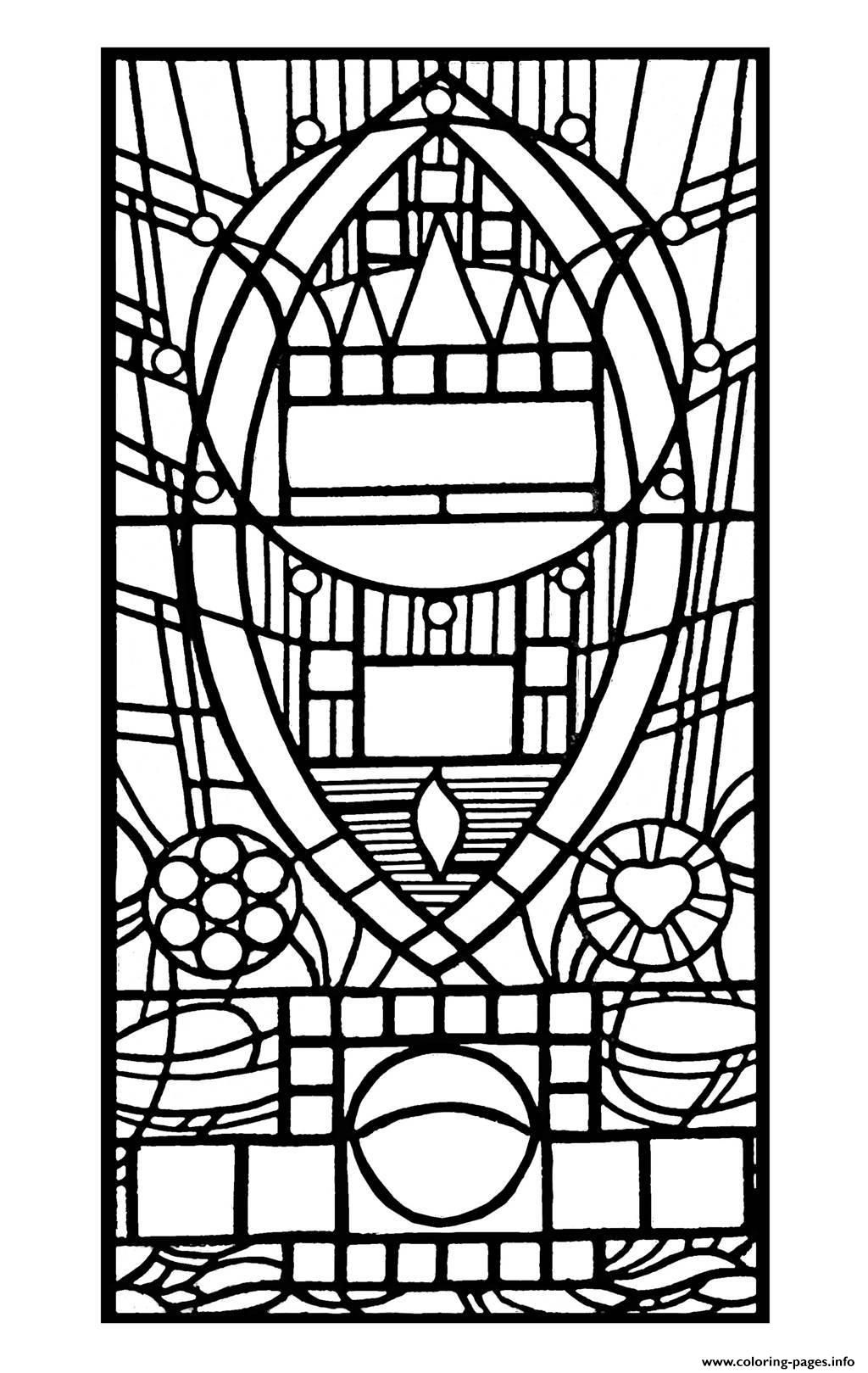Beauty and the beast stained glass coloring page coloring home - Coloriage vitraux ...
