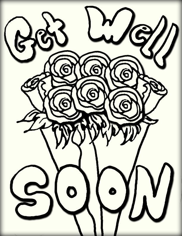 Get Well Soon Coloring Pages - Color Zini