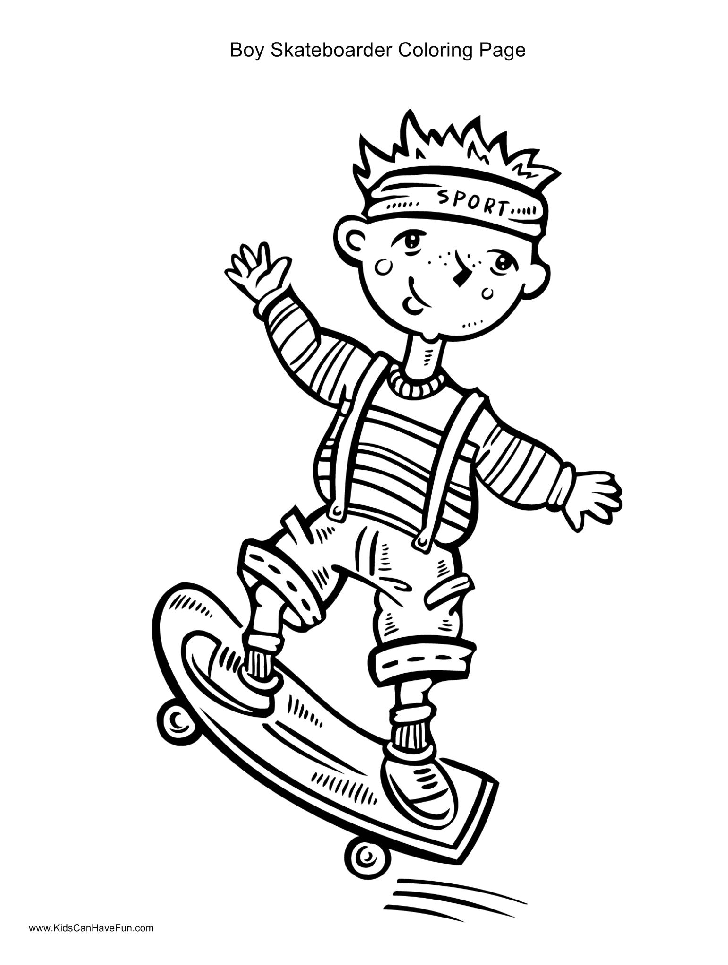 Skateboarding Coloring Pages - Coloring Home
