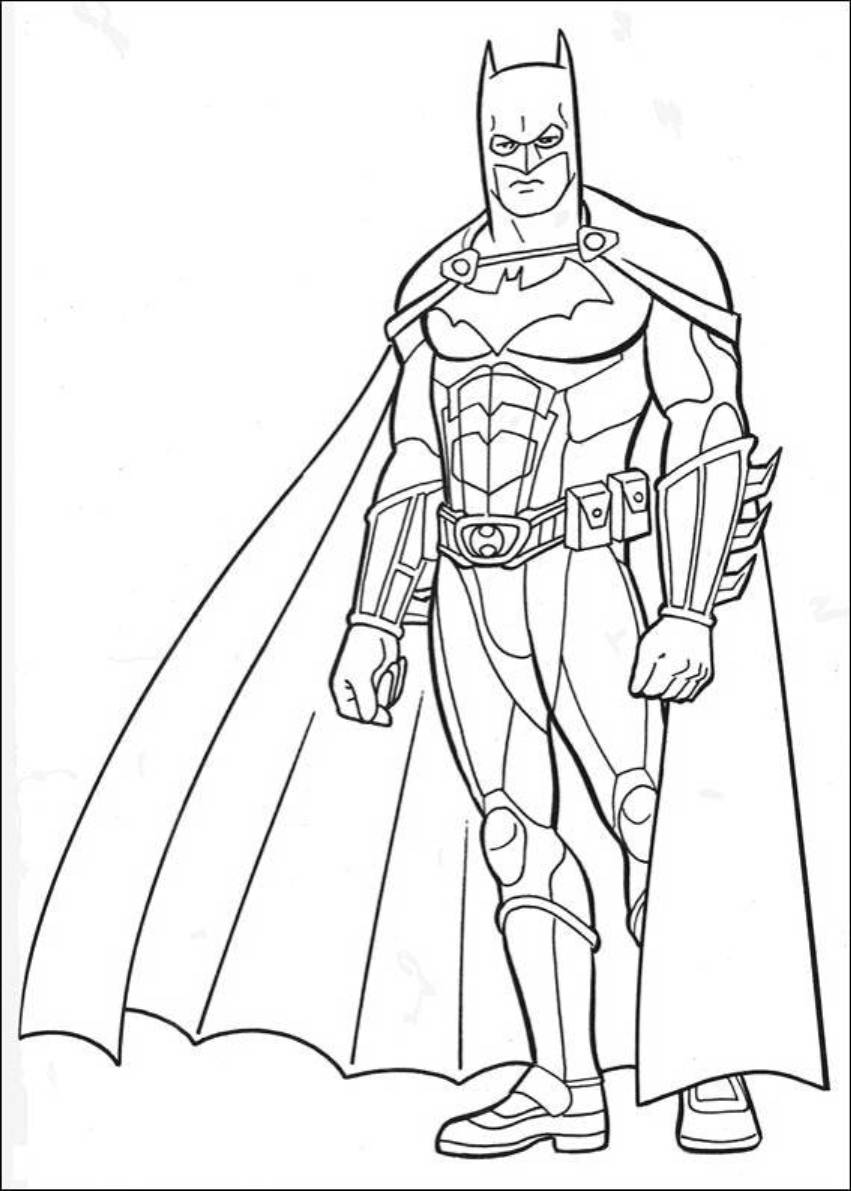 coloring pages batman printable template - photo#24