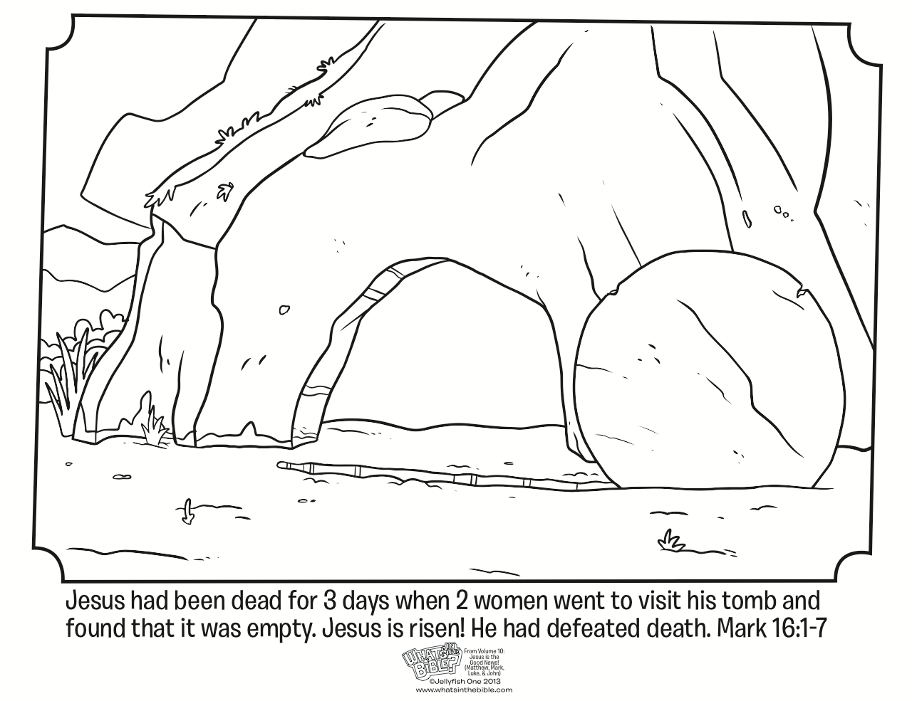 Free printable coloring pages empty tomb - Best Easter Coloring Pages