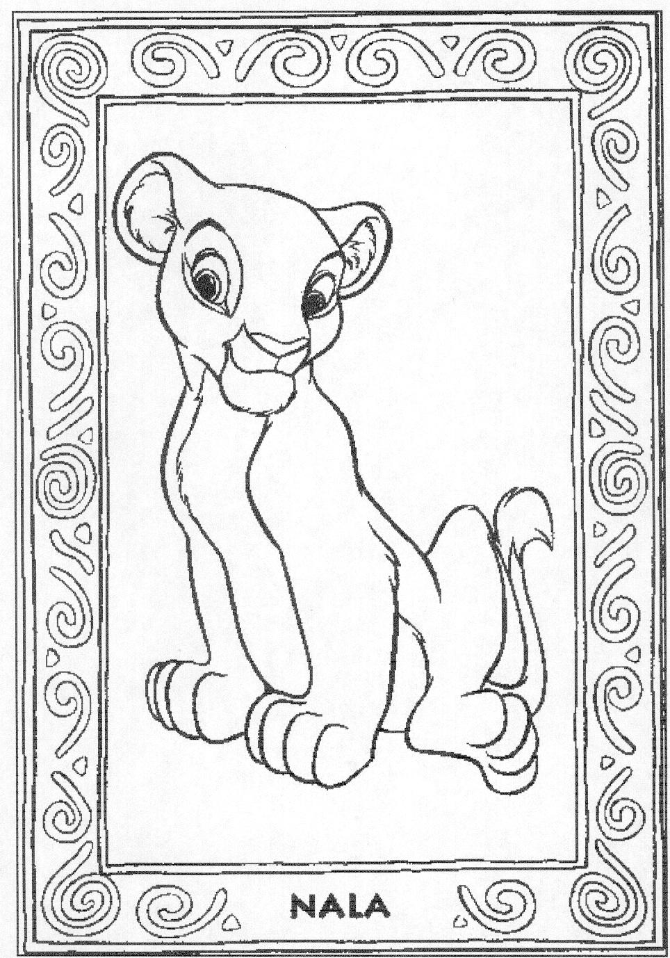 Lion King Coloring Pages Nala And