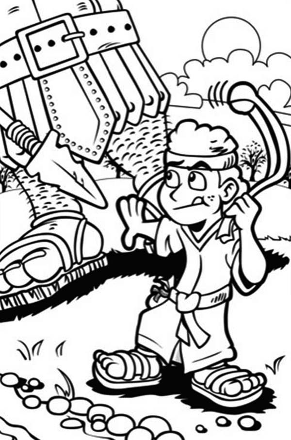 David And Goliath Coloring Pages Printables Sketch