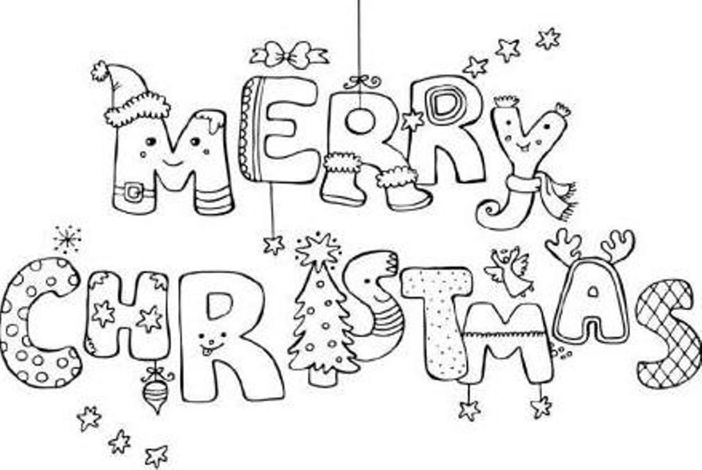 merry christmas coloring pages | Only Coloring Pages
