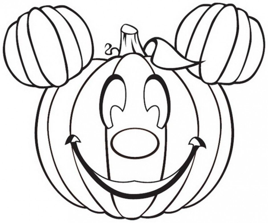 Halloween Coloring Pages Mickey Mouse Minnie Pumpkin - Colorine ...