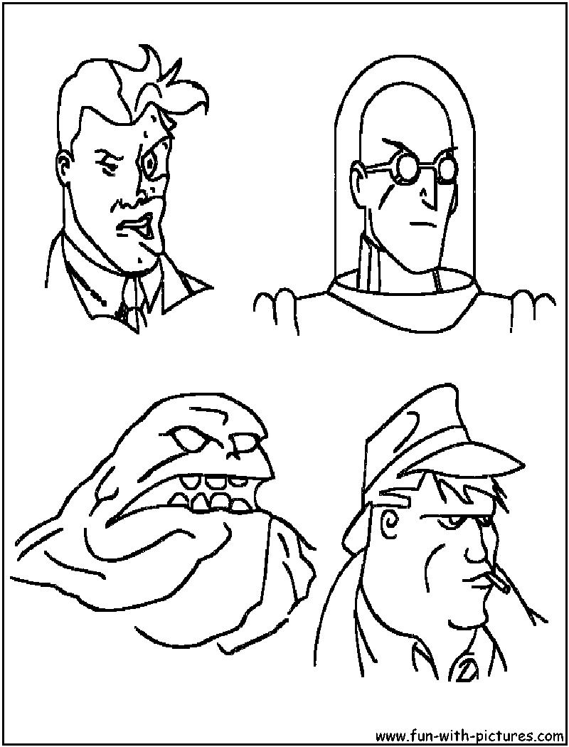 10 Pics Of Batman Enemies Coloring Pages