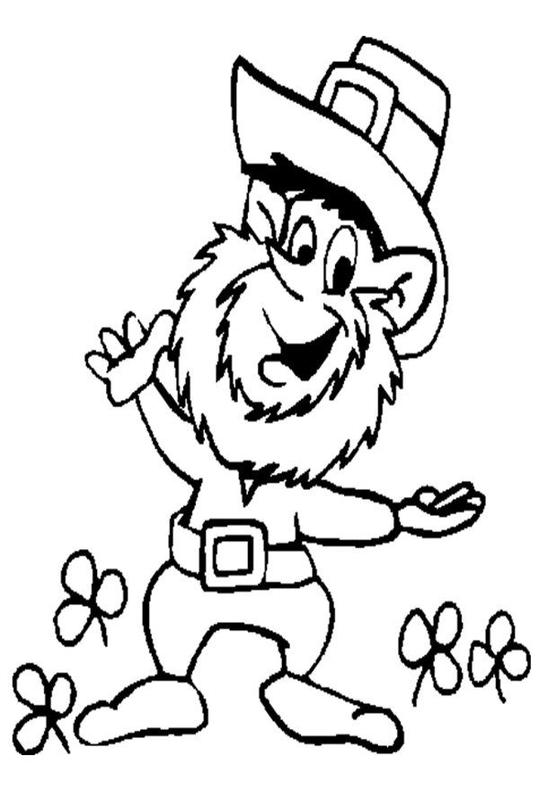 Free Printable Leprechaun Coloring Pages Coloring Home