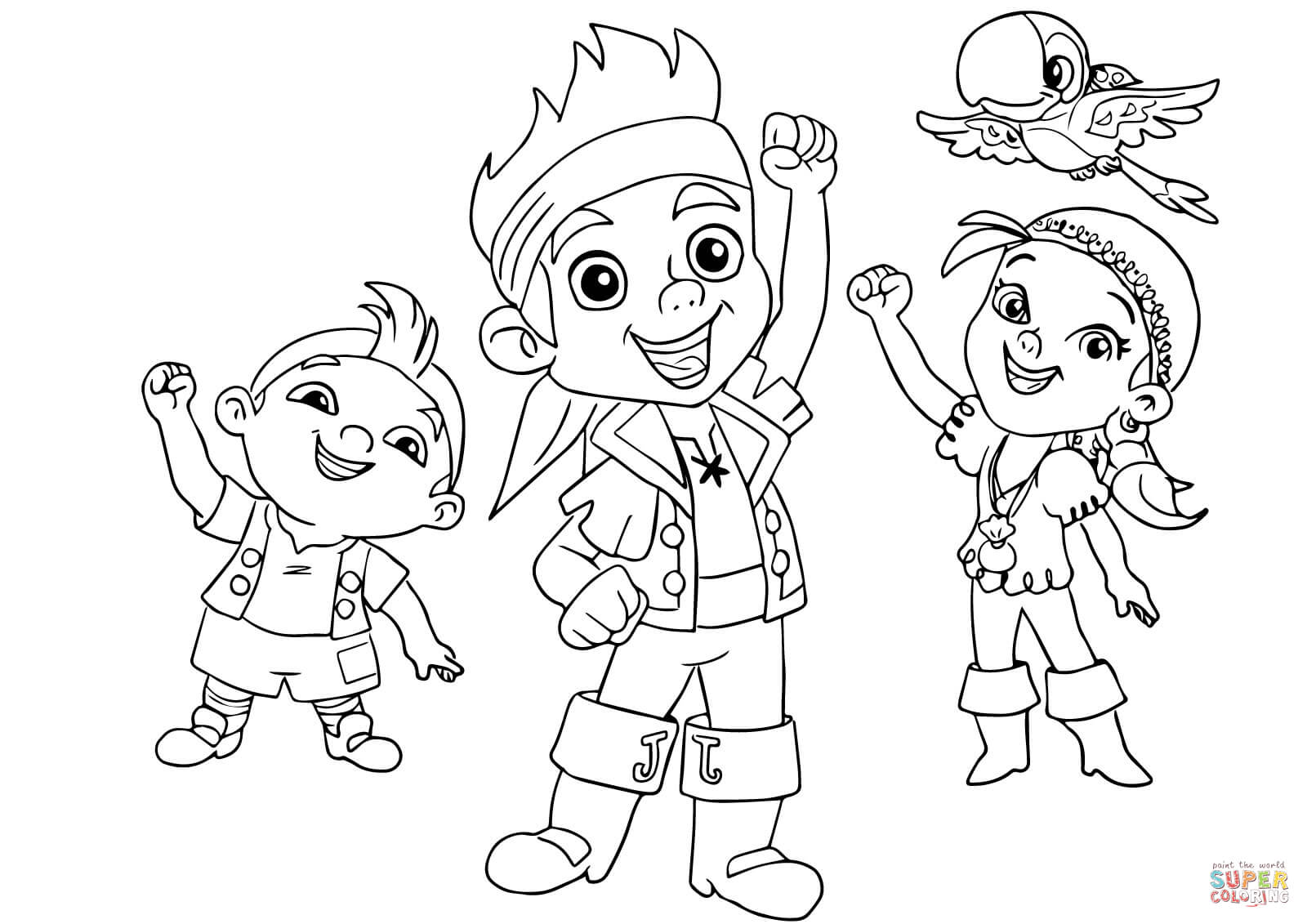 Coloring Pages Jake And The Pirates Coloring Pages jake the pirate coloring pages eassume com for captain and neverland pirates az