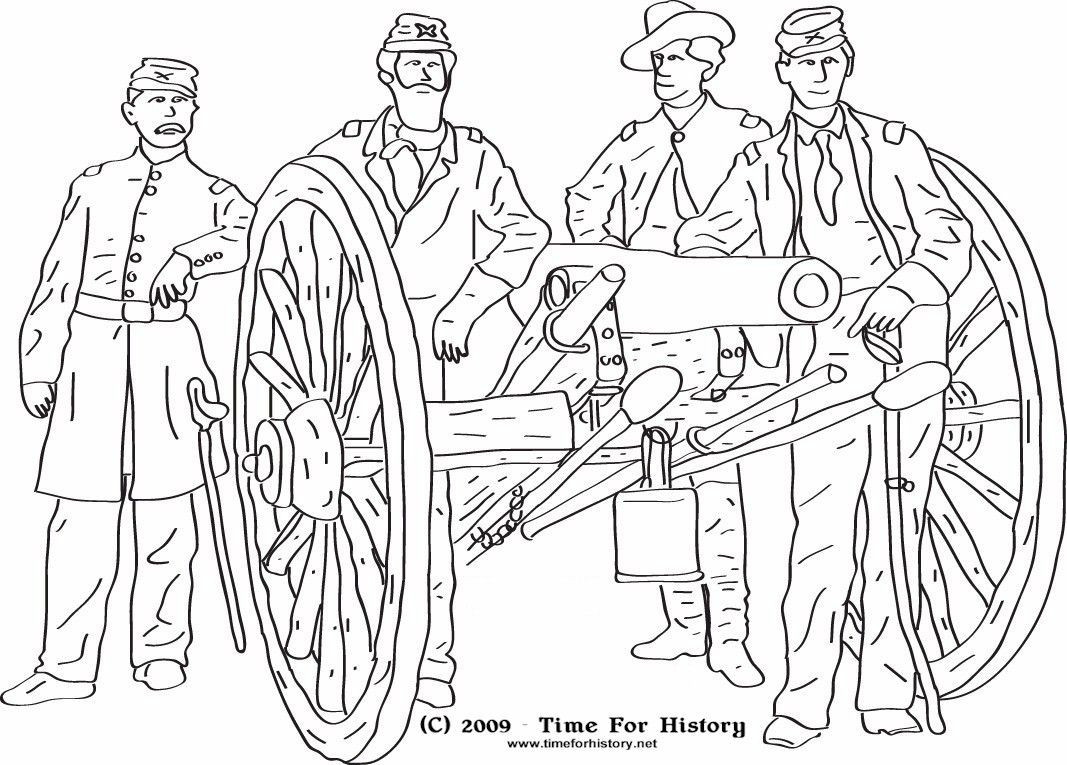 Civil War Cannon Coloring Pages