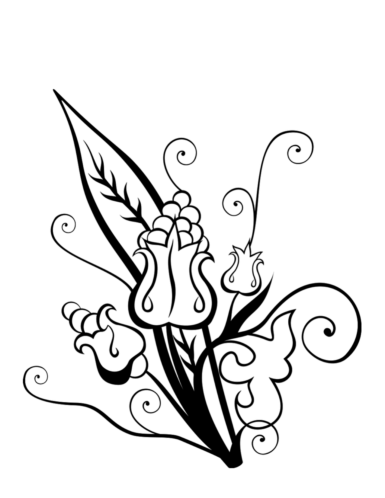 Hawaiian Flower Coloring Page Clipart Best Coloring Home