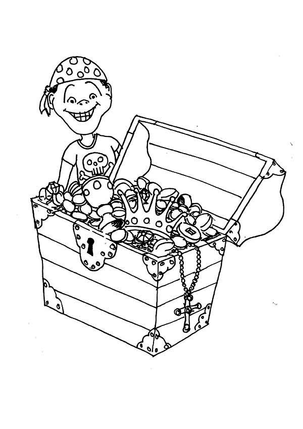 Open Treasure Chest Coloring Page Az Coloring Pages Treasure Chest Coloring Page