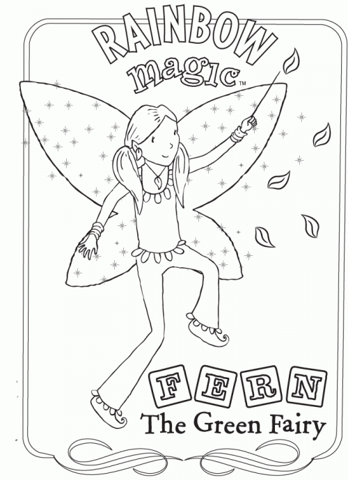 Rainbow Magic Coloring Page - Green