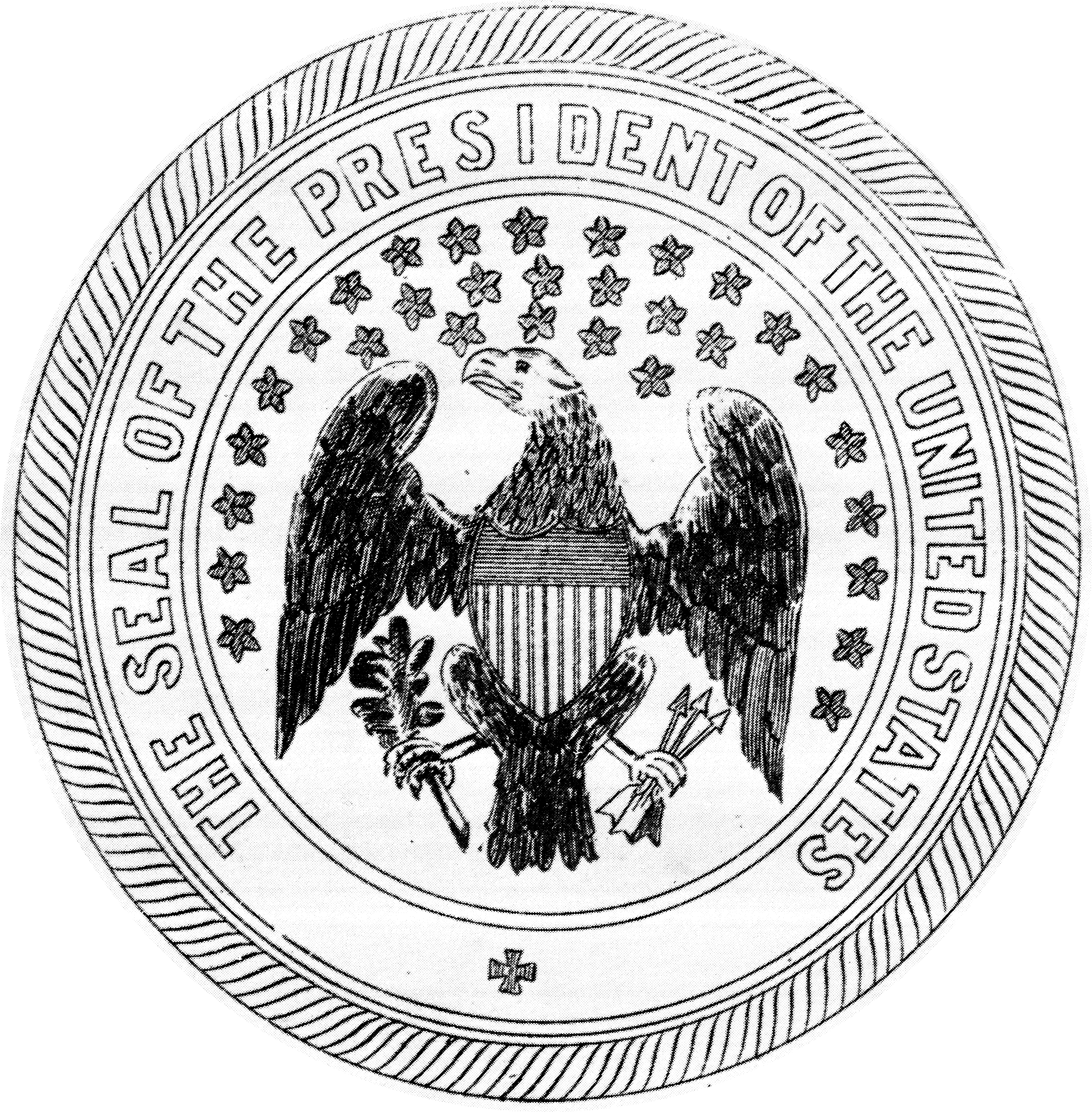 Presidential seal coloring page coloring home for Seal coloring pages