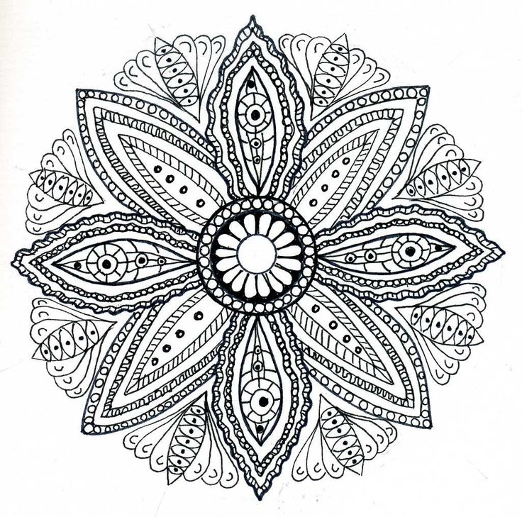 Mandala Coloring Pages Free Printable Adults