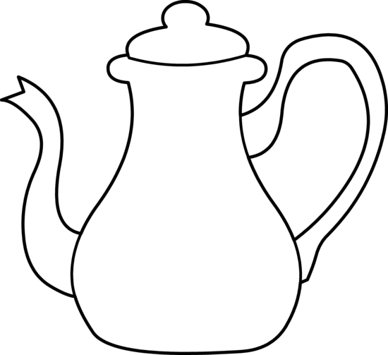 Teapot Coloring Page Coloring Home Teapot Coloring Page