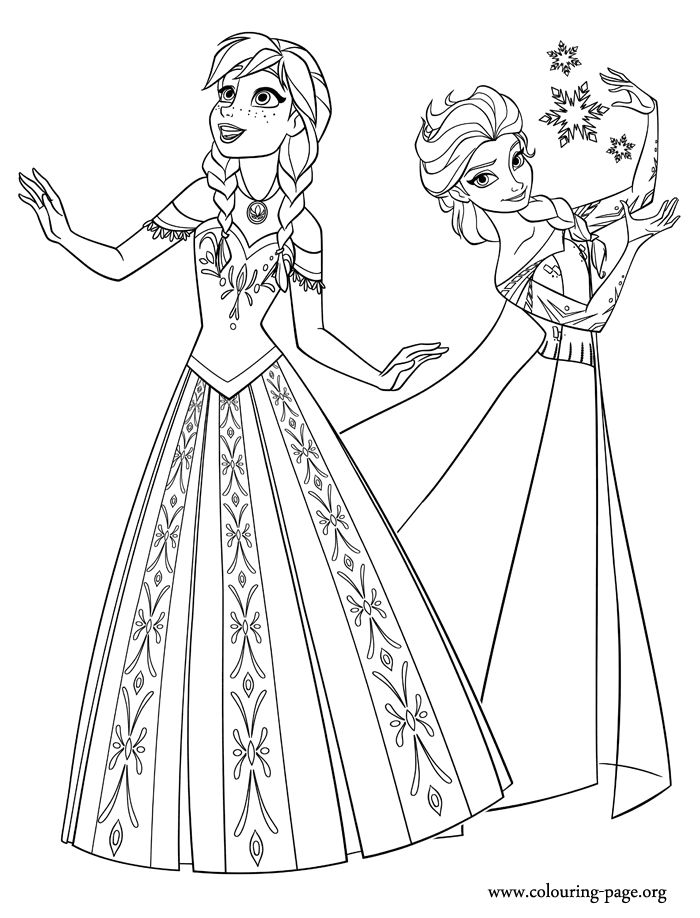 Frozen Coloring Pages Coloring Home