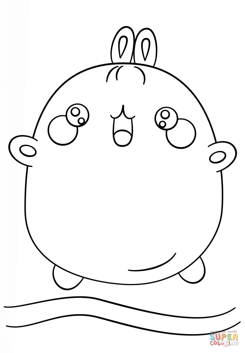 Coloring Pages Of Cute Kawaii Animals Coloring Home