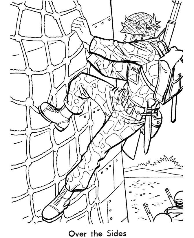 It is an image of Genius Marines Coloring Pages