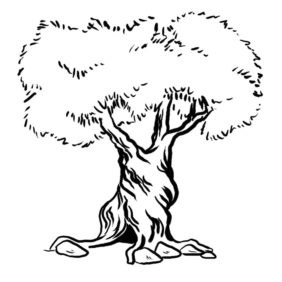 Tree Trunkcoloring Page - Coloring Home