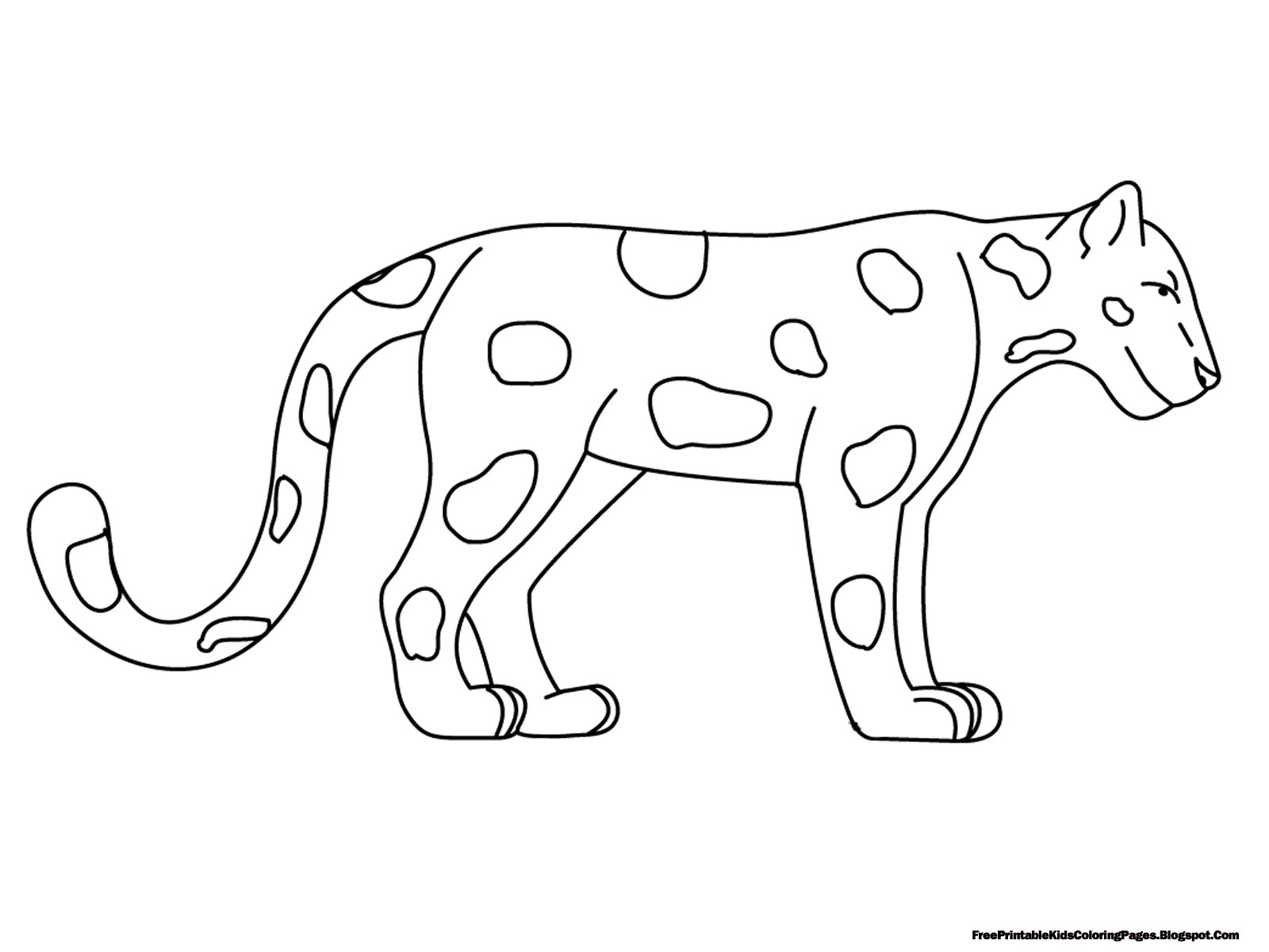 Jaguar Coloring Pages - Free Printable Kids Coloring Pages