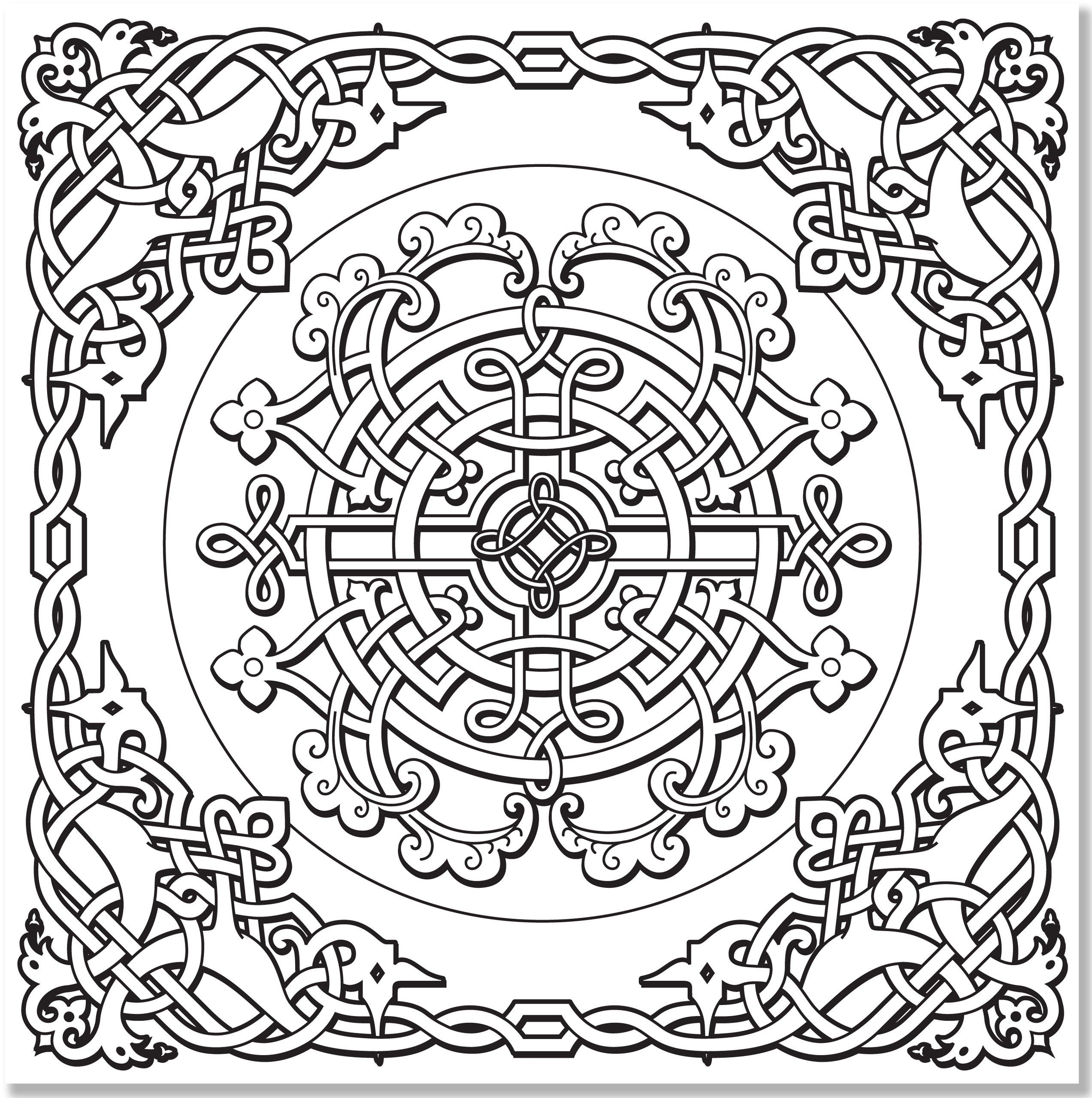 Coloring Pages To Print Celtic Designs - Coloring Home