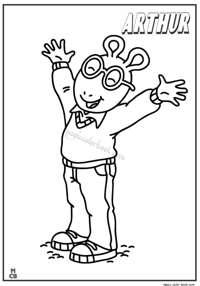 Arthur Coloring Pages 03 Coloring Home