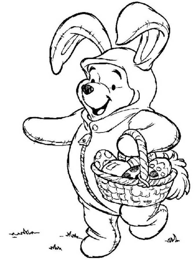 the pooh easter coloring pages - photo#3