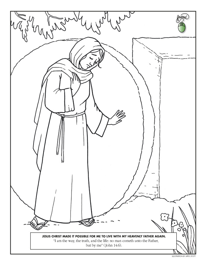 Easter coloring page | LDS Lesson Ideas