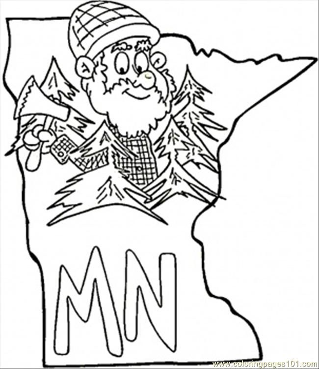 Minnesota State Flag Coloring Page Coloring Pages Minnesota Map