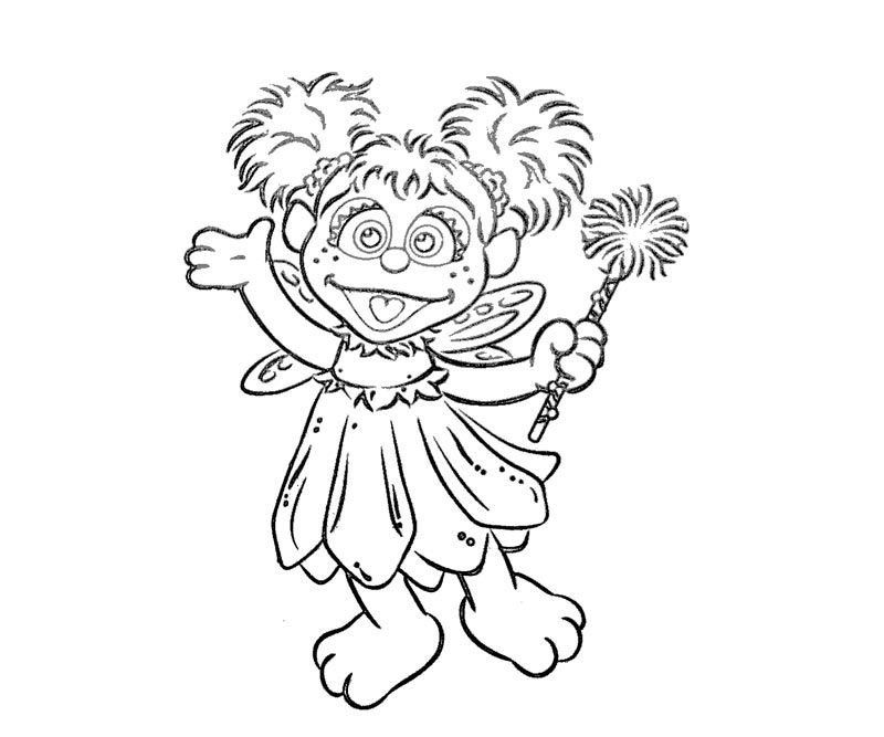 sesame street abby cadabby coloring pages | Abby Cadabby Coloring Pages To Print - Coloring Home