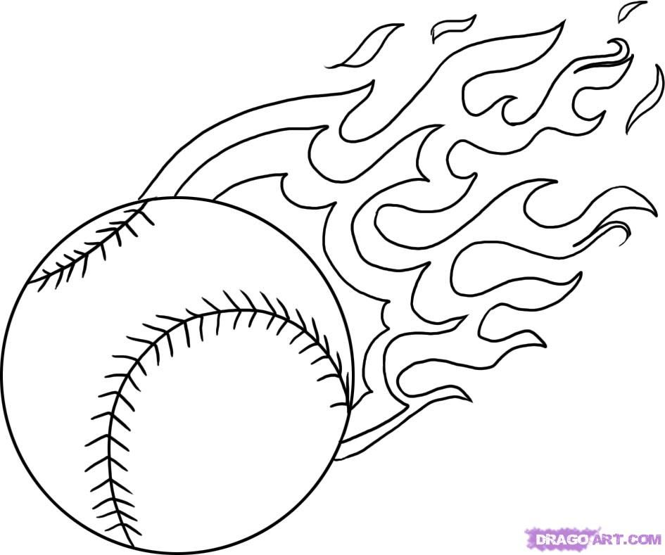 Softball Coloring Pictures AZ Pages