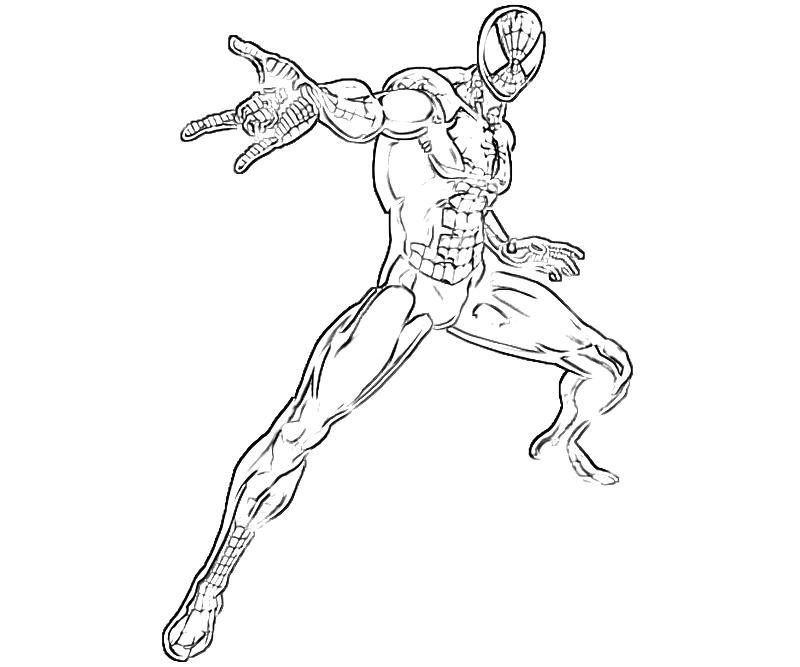 Scary spider coloring pages coloring home for Iron spiderman coloring pages
