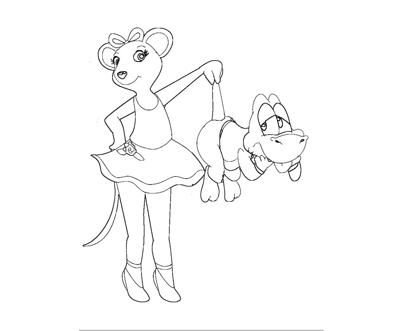 angelina ballerina coloring pages free - angelina ballerina coloring pages az coloring pages