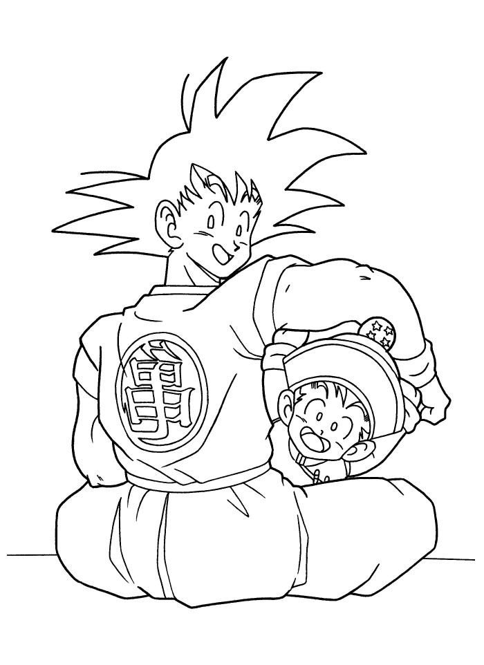 mobilemystic gohan coloring pages coloring pages