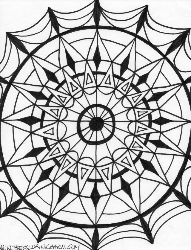 kaleidoscopes coloring pages - photo#21
