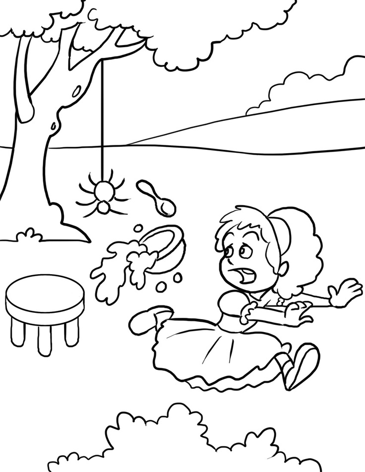 little miss muffet coloring pages - photo#1