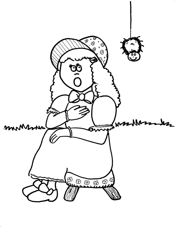 little miss muffet coloring pages - photo#5