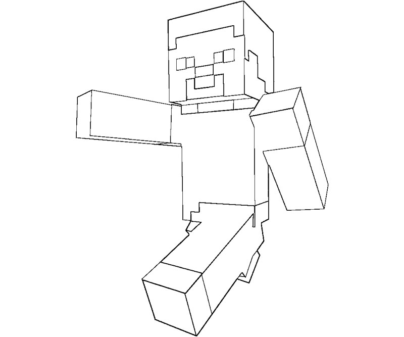Free Coloring Pages Of Minecraft Skins