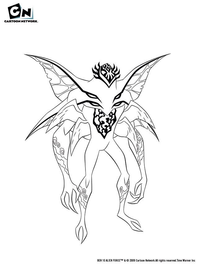 Ben 10 Alien Force Coloring Pages Swampfire | Alfa Coloring