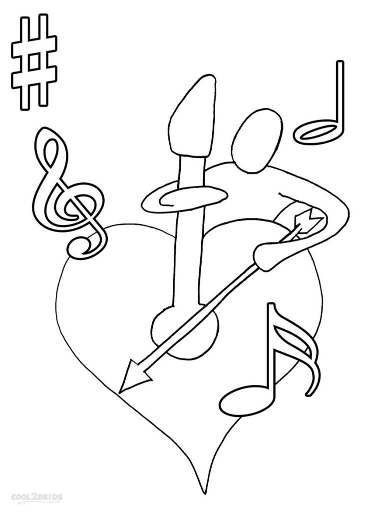free music coloring pages printable - coloring pages music notes coloring home