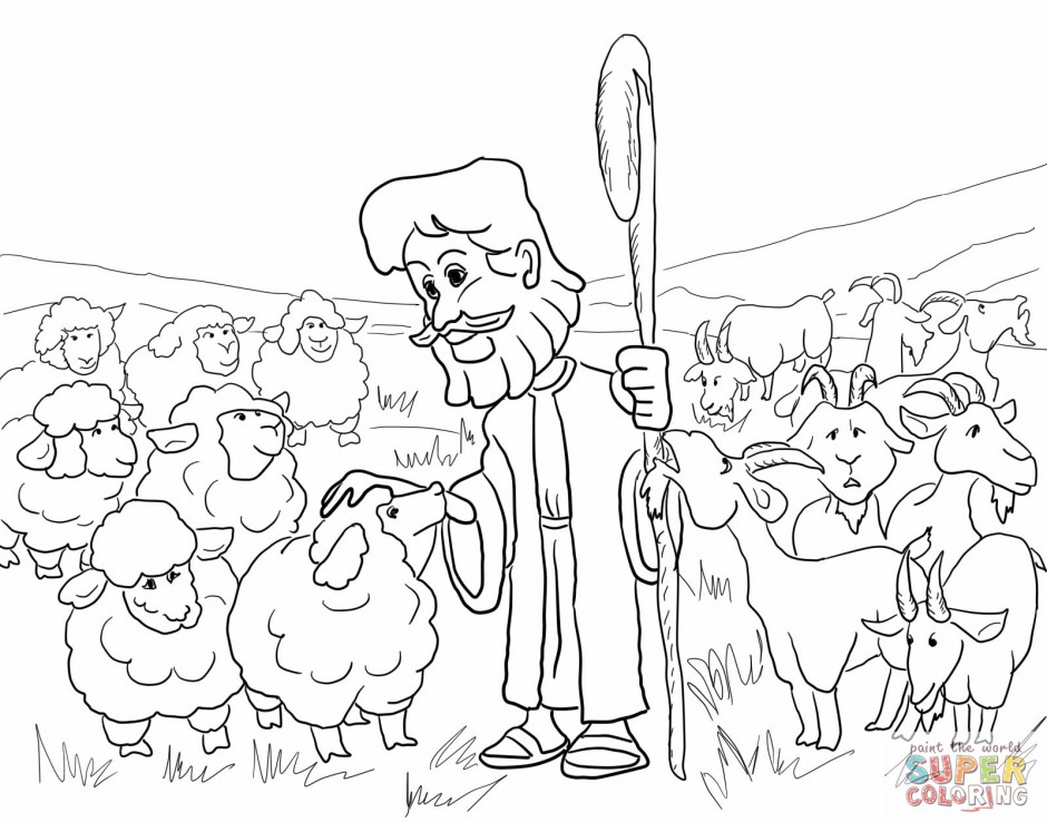 lost sheep parable coloring pages - photo#15