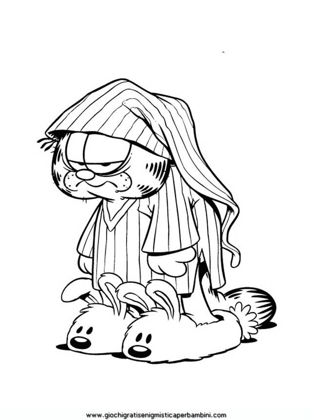 odie and garfield coloring pages - photo#34