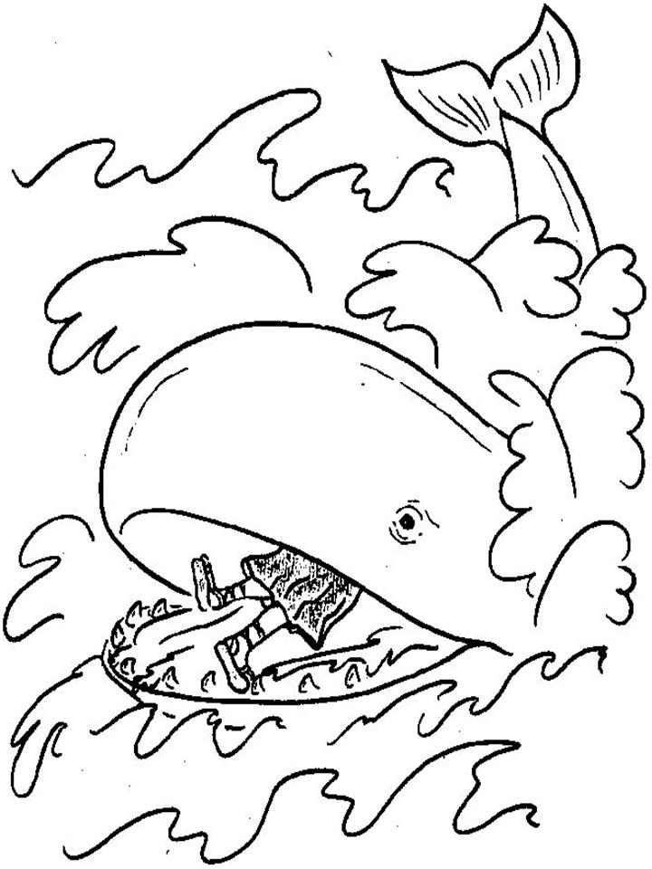 Jonah And The Big Fish Coloring Page - Coloring Home